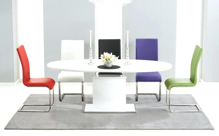 High Gloss Dining High Gloss Dining Table In Grey Or White Special For 2017 High Gloss Dining Tables (View 9 of 20)