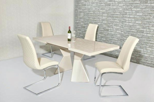 High Gloss Dining Table Cream Extendable High Gloss Dining Table With Widely Used Cream High Gloss Dining Tables (View 15 of 20)