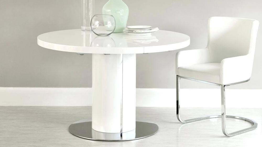 High Gloss Dining Table Sets Round White Gloss And Chrome Extending For Widely Used Round High Gloss Dining Tables (View 7 of 20)