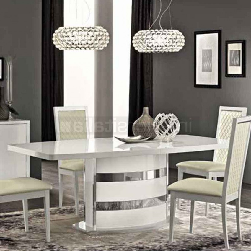High Gloss Dining Tables Sets Intended For Most Recently Released High Gloss Dining Set (View 6 of 20)