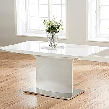 High Gloss Extendable Dining Tables Inside Most Current Mark Harris Hayden 160Cm 220Cm White High Gloss Extending Dining (View 9 of 20)