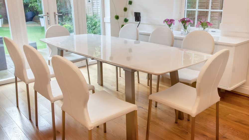 High Gloss White Dining Chairs Within Most Popular White High Gloss Extending Dining Set (View 18 of 20)