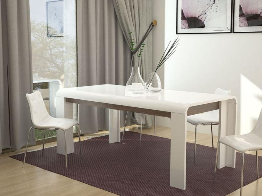 High Gloss White Dining Table Intended For Most Up To Date White Gloss Dining Room Furniture (View 19 of 20)