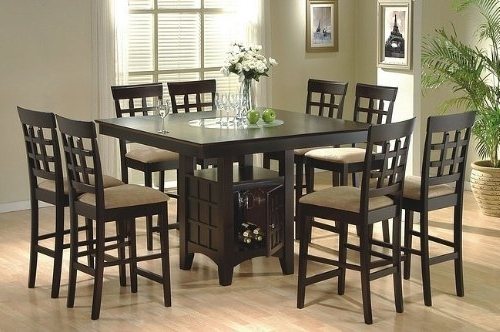 High Top Dining Table With 8 Chairs – Island Kitchen Within Fashionable 8 Chairs Dining Tables (View 13 of 20)