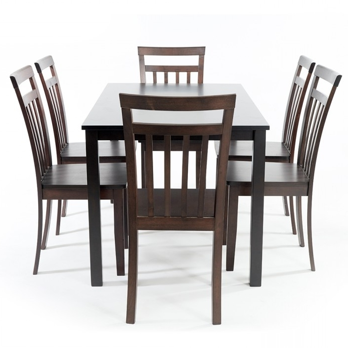 Hockee 1+6 Dining Set, Table And 6 Chairs (Hockee0004) With Most Recent Helms 6 Piece Rectangle Dining Sets (View 4 of 20)
