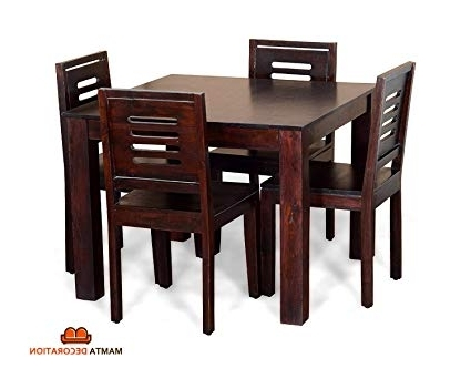 Home And Regarding Most Recently Released Mahogany Dining Tables And 4 Chairs (Gallery 17 of 20)
