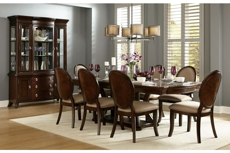 Home Elegance Usa With Caira 7 Piece Rectangular Dining Sets With Upholstered Side Chairs (View 11 of 20)