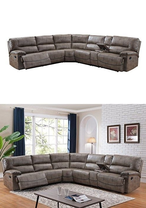 Home Ideas, Good Ideas And Inside Travis Cognac Leather 6 Piece Power Reclining Sectionals With Power Headrest & Usb (Gallery 11 of 15)