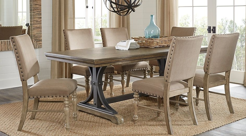 Home Stuff Throughout Caira 7 Piece Rectangular Dining Sets With Upholstered Side Chairs (Gallery 7 of 20)