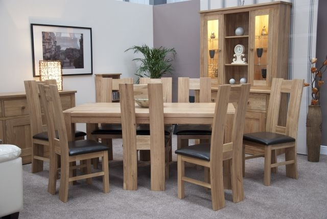 Homestyle Trendy Lifestyle Solid Oak 1.8 X 1M Chunky Dining Table For Favorite Chunky Solid Oak Dining Tables And 6 Chairs (Gallery 2 of 20)