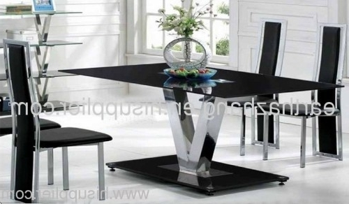 Hot Sell Black Glass Dining Table Xydt 252 Manufacturer From China With Regard To Latest Dining Tables Black Glass (View 7 of 20)