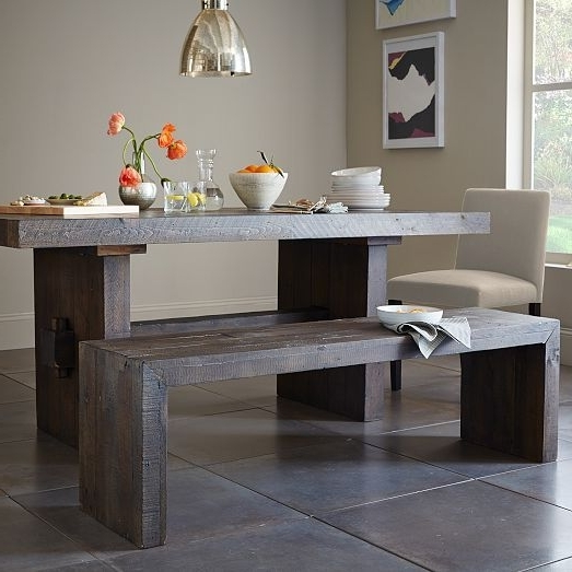 House And Home In Natural Wood & Recycled Elm 87 Inch Dining Tables (View 6 of 20)
