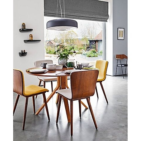 Housejohn Lewis Radar 6 Seater Round Dining Table, Walnut With 2017 6 Seater Round Dining Tables (View 7 of 20)