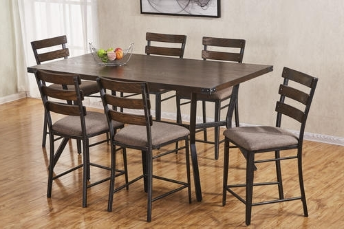 Hudson Dining Tables And Chairs For Recent Simmons™ Hudson 7 Piece Counter Height Dining Set At Menards® (View 13 of 20)