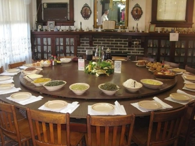 Huge Round Dining Tables Intended For Famous Large Round Dining Table Seats 10 – Foter (Gallery 2 of 20)