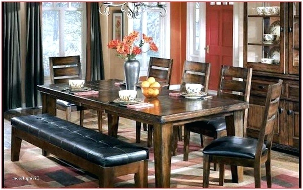 Hyland 5 Piece Counter Sets With Bench Inside Most Up To Date Ashley Furniture Dining Tables Furniture Bench Furniture Dining (View 6 of 20)