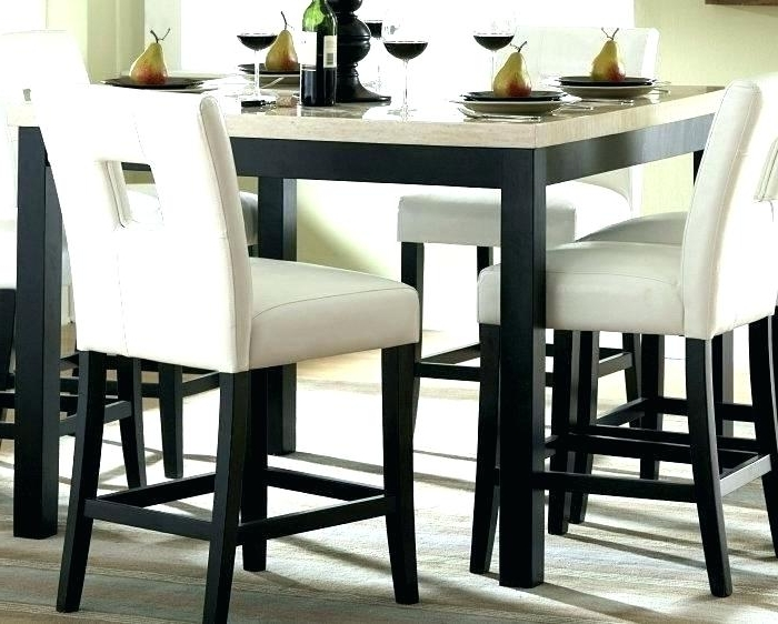 Hyland 5 Piece Counter Sets With Bench With Popular Counter Height Dining Room Table With 8 Chairs Meredy And Bar Stools (View 9 of 20)