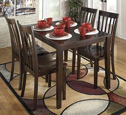 Hyland 5 Piece Counter Sets With Stools In Well Known Amazon – Signature Designashley D258 225 Hyland Dining Room (Gallery 8 of 20)