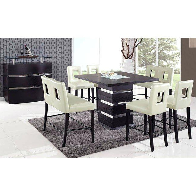 Hyland 5 Piece Counter Sets With Stools Inside Most Popular Hyland Counter Height Dining Room Table And Barstools Set Of  (View 7 of 20)