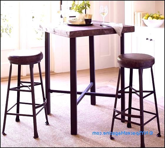 Hyland 5 Piece Counter Sets With Stools Regarding Current Counter Height Table And Bar Stools Griffin Reclaimed Wood Bar (View 9 of 20)