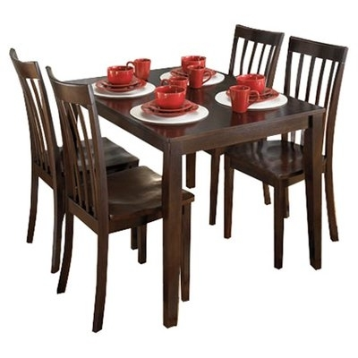 Hyland 5 Piece Counter Sets With Stools Regarding Trendy Signature Designashley Hyland 5 Piece Dinette Set & Reviews (View 5 of 20)