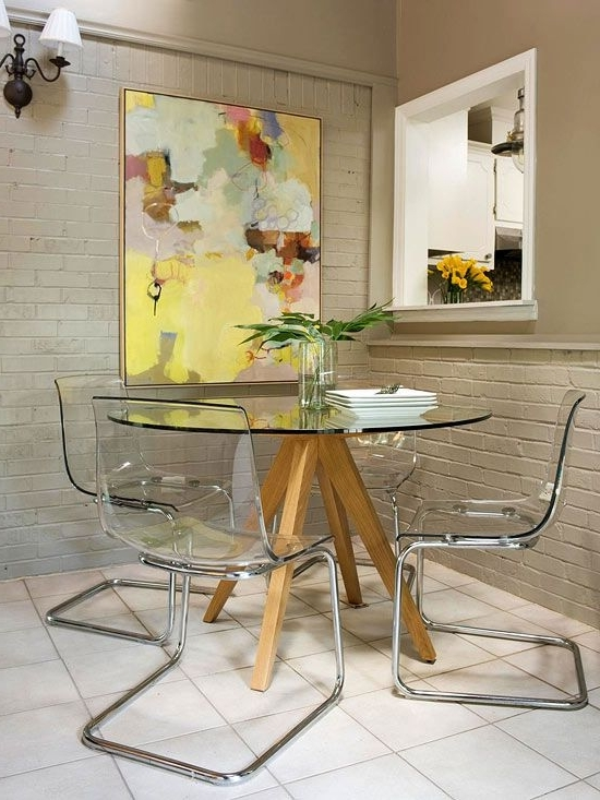 Ideas To Steal For Your Apartment: Ideas For Apartments, Condos, And Intended For Fashionable Round Acrylic Dining Tables (Gallery 18 of 20)