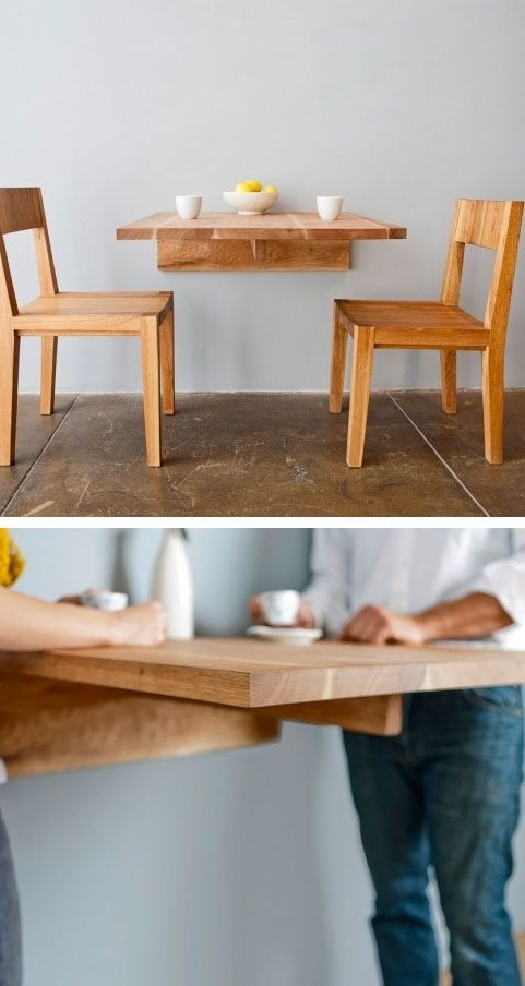 Ideas With Dining Tables With Fold Away Chairs (Gallery 15 of 20)
