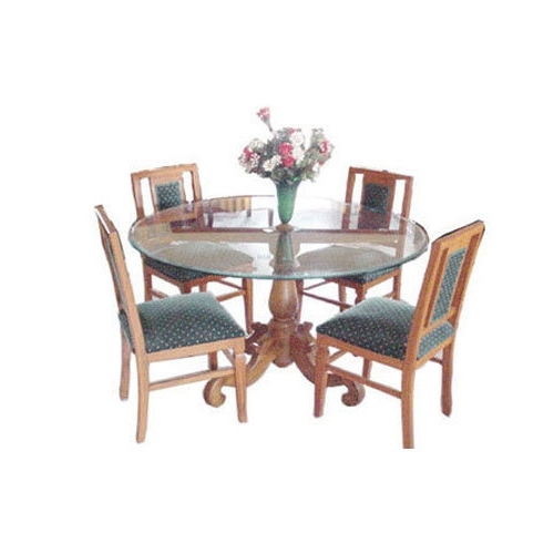 Imperial Dining Tables In Favorite Usha Furniture Brown & Blue Imperial Dining Table With Four Chairs (View 12 of 20)