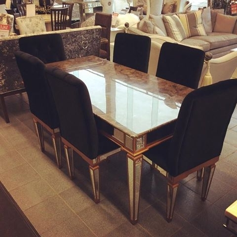 Imperial Marble Table And 6 Chairs – Home Living With Most Recent Imperial Dining Tables (View 10 of 20)
