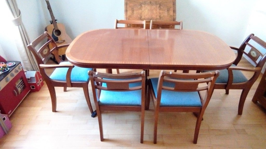 In For Norwood 6 Piece Rectangular Extension Dining Sets With Upholstered Side Chairs (Gallery 18 of 20)