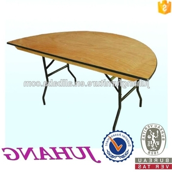 In Half Folding Designs Rubber Wood Oval Wooden Folding Dining Table Intended For Recent Oval Folding Dining Tables (Gallery 1 of 20)