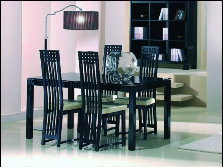 In Within Black Gloss Dining Sets (Gallery 16 of 20)