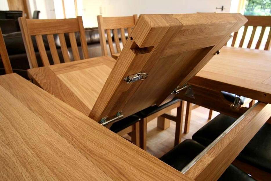 Incredible Extending Solid Oak Dining Table Tallinn Butterfly Intended For 2018 Extending Oak Dining Tables (Gallery 18 of 20)
