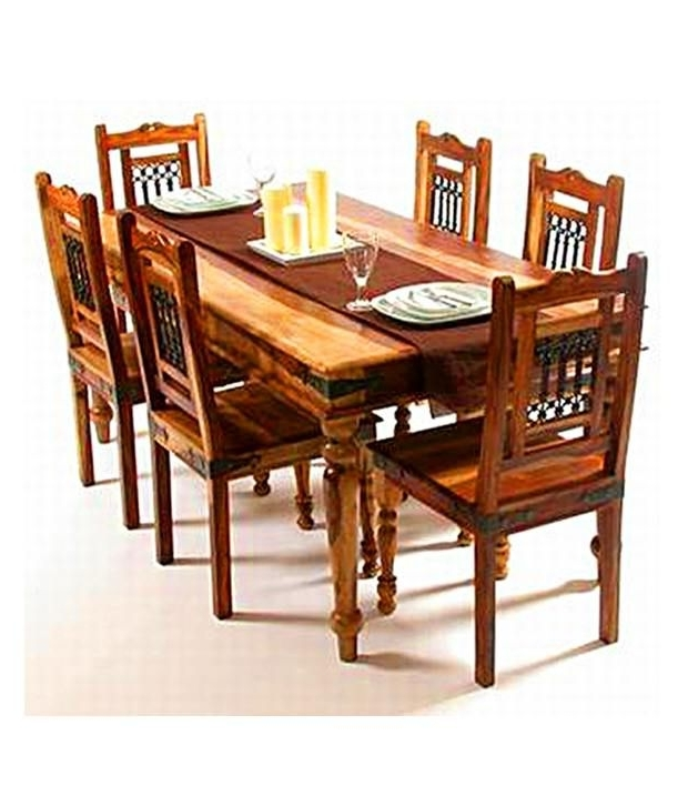 Indian Dining Chairs Regarding Most Popular Indian Hub – Dining Table Set With 6 Chair – Buy Indian Hub – Dining (View 7 of 20)