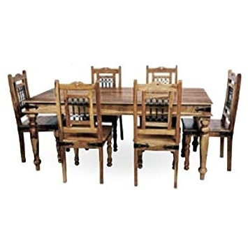 Indian Dining Chairs Within Fashionable Mercers Furniture Indian Dining Table And 6 Chairs – Indian Rosewood (View 8 of 20)