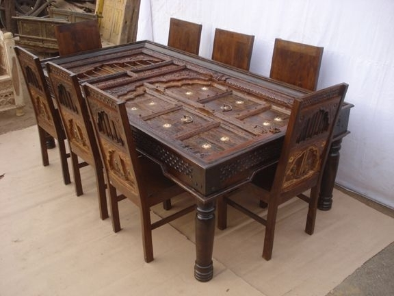 Indian Dining Room Furniture With Well Liked Antique Reproduction Dining Table & Chairs3 (Gallery 2 of 20)