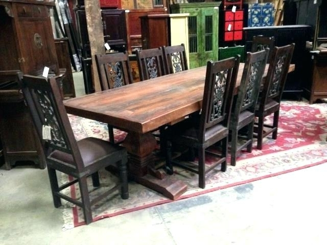 Indian Dining Table Room Sets Design Style Wooden Designs Pertaining To Well Known Indian Style Dining Tables (View 7 of 20)