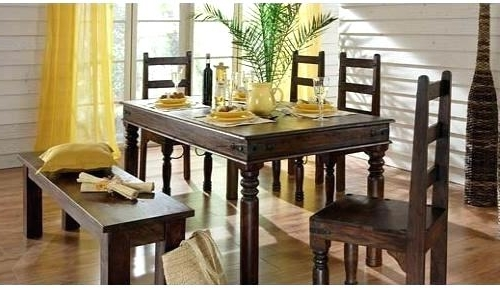 Indian Dining Tables And Chairs Pertaining To Best And Newest Indian Wood Dining Table Dining Room Furniture Dining Table Wooden (Gallery 20 of 20)