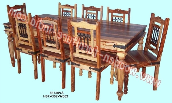 Indian Dining Tables And Chairs With Most Recent Dining Set,indian Wooden Furniture,home Furniture,table,chair – Buy (View 5 of 20)