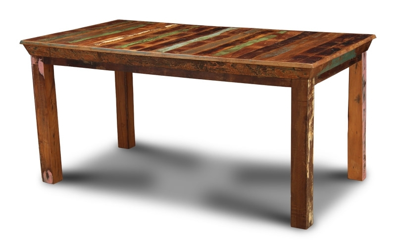 Indian Dining Tables Inside Famous Reclaimed Indian Medium Dining Table (View 7 of 20)