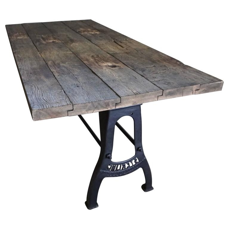 Industrial Brushed Metal Dining Table Early 20Th Century At 1Stdibs Intended For Latest Brushed Metal Dining Tables (Gallery 11 of 20)