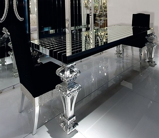 Insanely Gorgeous Dining Room!! Black Glass This Would Look Amazing Within Most Recent Dining Tables Black Glass (View 8 of 20)