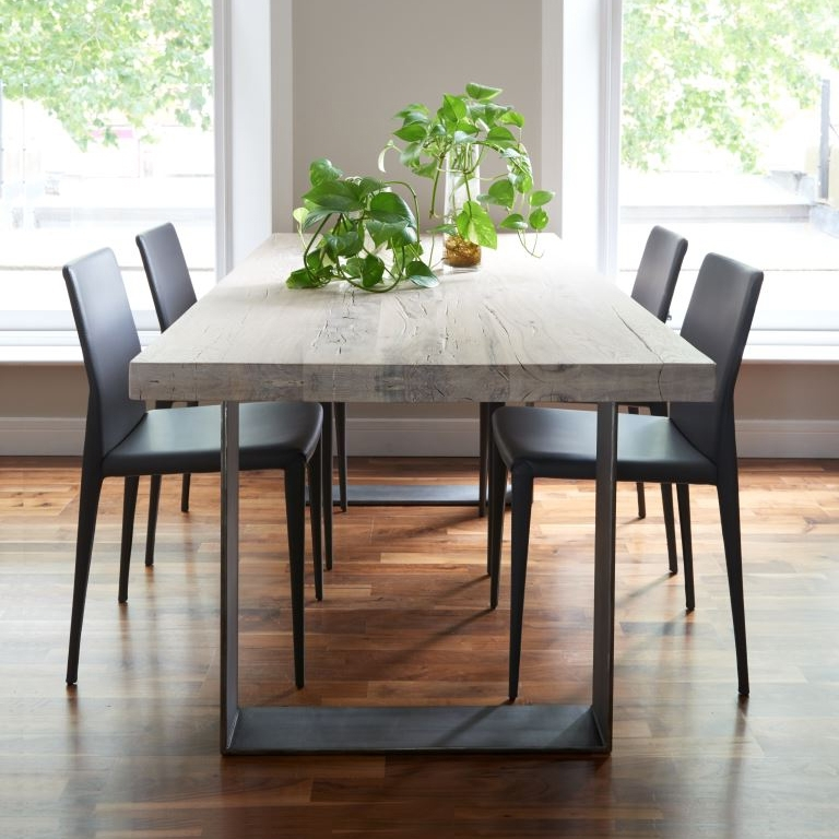Iron And Wood Dining Tables For Widely Used Rustik Dining Table From Stock (Gallery 3 of 20)