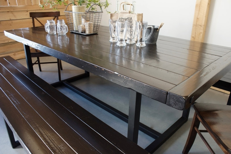 Iron And Wood Dining Tables Within Latest Wood & Iron Dining Table In Calgary, Alberta / Liken Woodworks (Gallery 15 of 20)