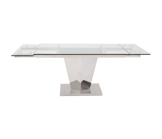 Isabella Dining Tables Within Popular Isabella Extending Clear Glass Dining Table 140Cm – 200Cm – Modish (View 8 of 20)