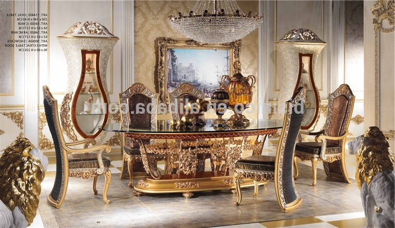 Italian Royal Dining Room Furniture Set,imperial Wood Carving And With Regard To Current Imperial Dining Tables (View 6 of 20)