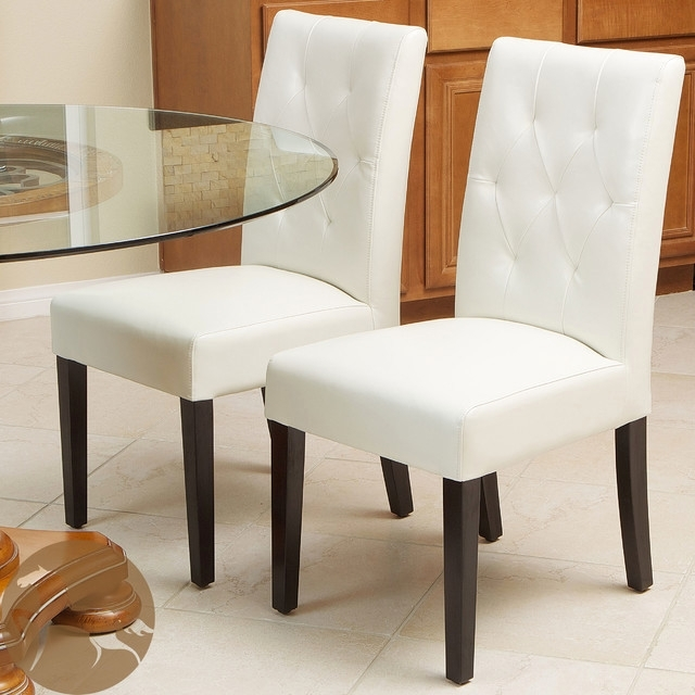 Ivory Leather Dining Chairs In Widely Used Ideal Christopher Knight Home Gentry Bonded Leather Ivory Dining (View 7 of 20)