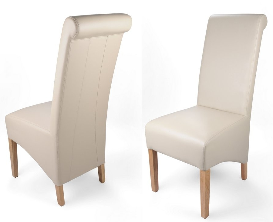 Ivory Leather Dining Chairs With Current Abdabs Furniture – Classic Matt Leather Match Dining Chairs – Pair (View 9 of 20)