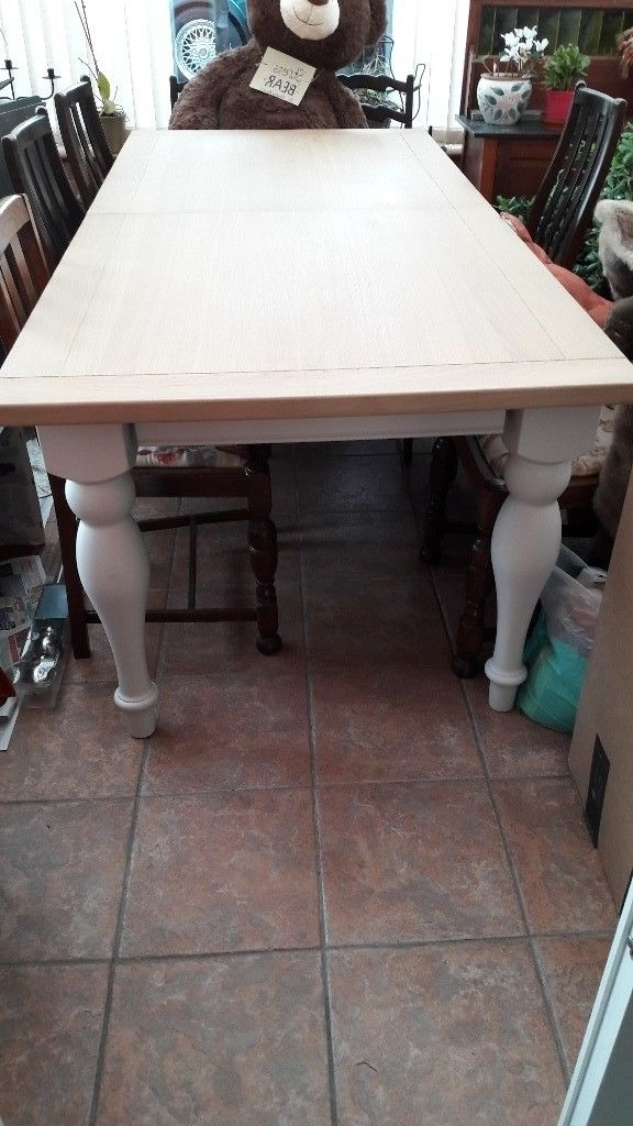 Ivory Painted Dining Tables For Famous Reduced Next Shaftesbury Ivory Painted 6 8 Seater Dining Table (View 13 of 20)