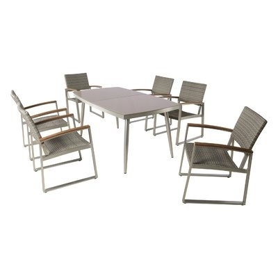 Ivy Bronx Bonifacio Outdoor 7 Piece Dining Set In  (View 11 of 20)